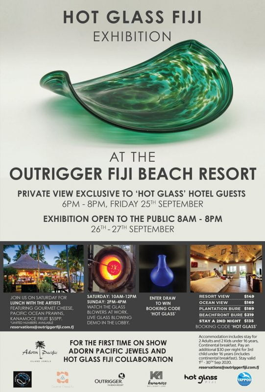Hot Glass Fiji Exhibition At The Outrigger Fiji Beach Resort
