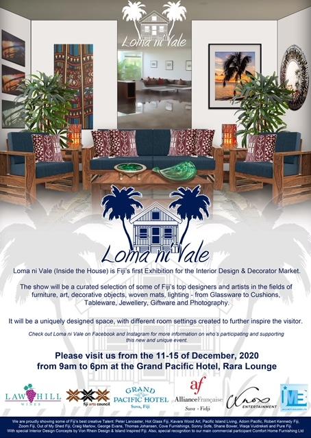 """Loma ni Vale"""", Fiji's first Design, Decor and Interior Art exhibition"""